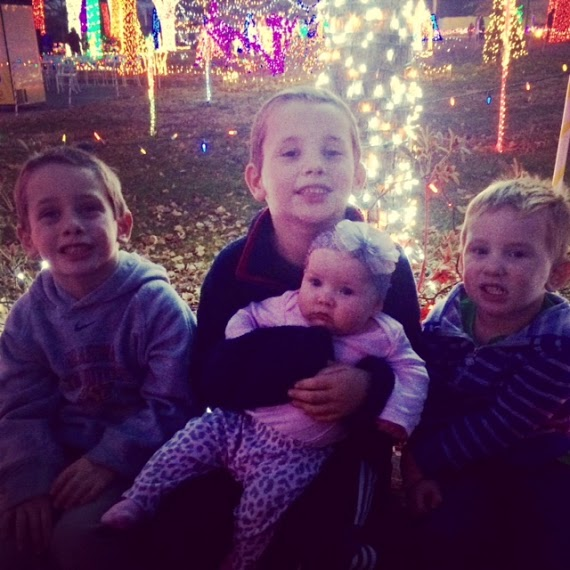 Abigail with three of her four biological brothers.
